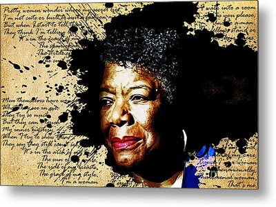 Phenomenal Woman Metal Print by The DigArtisT