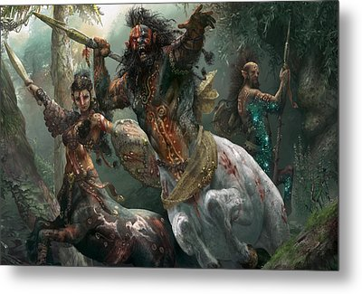 Pheres-band Raiders Metal Print by Ryan Barger