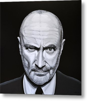 Phil Collins Metal Print by Paul Meijering