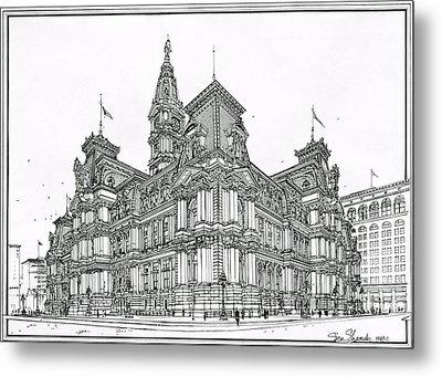 Philadelphia City Hall 1911 Metal Print by Ira Shander