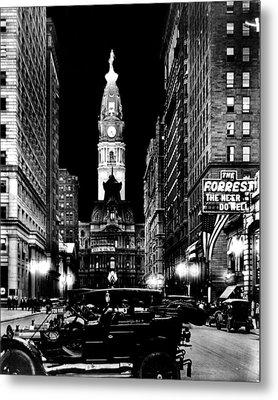 Philadelphia City Hall 1916 Metal Print by Benjamin Yeager