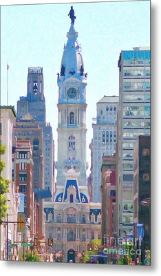 Philadelphia City Hall 20130703 Metal Print by Wingsdomain Art and Photography