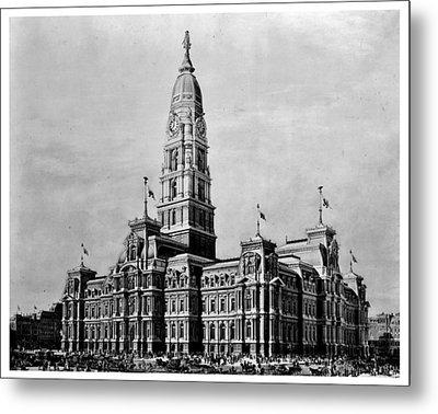 Philadelphia City Hall Metal Print by Benjamin Yeager