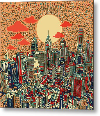 Philadelphia Dream Metal Print by Bekim Art