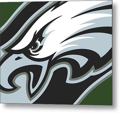 Philadelphia Eagles Football Metal Print by Tony Rubino