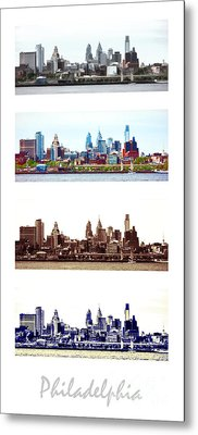 Philadelphia Four Seasons Metal Print by Olivier Le Queinec