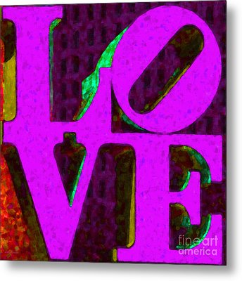 Philadelphia Love - Painterly V2 Metal Print by Wingsdomain Art and Photography