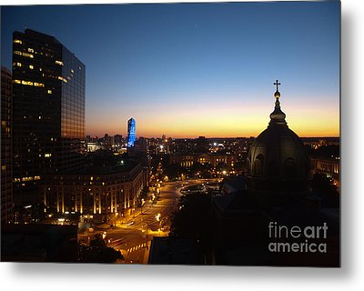 Philadelphia Night Metal Print by Tatianne Lugo