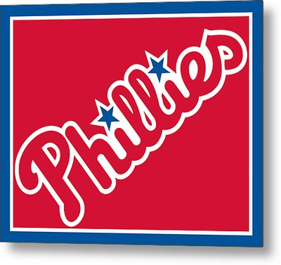 Philadelphia Phillies Baseball Metal Print by Tony Rubino