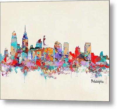 Philadelphia Skyline Metal Print by Bri B