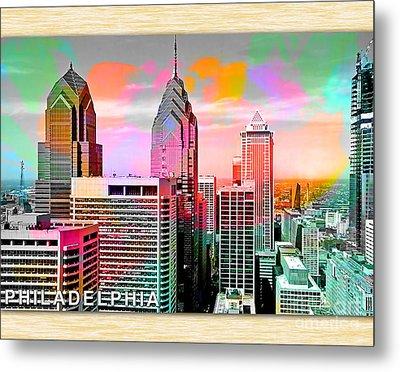 Philadelphia Skyline  Metal Print by Marvin Blaine