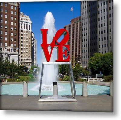 Philadelphia's Love Park Metal Print by Bill Cannon