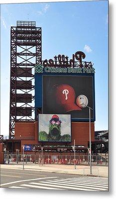 Phillies Citizens Bank Park - Baseball Stadium Metal Print by Bill Cannon