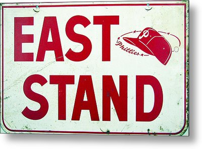 Phillies East Stand Sign - Connie Mack Stadium Metal Print by Bill Cannon