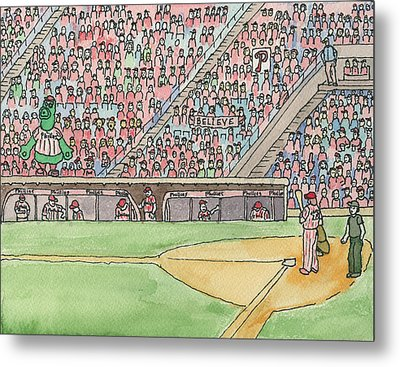 Phillies Game Metal Print by Cee Heard
