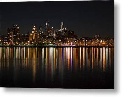 Philly Night Metal Print by Jennifer Ancker