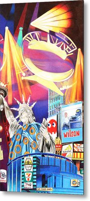 Phish New Years In New York Right Panel Metal Print by Joshua Morton