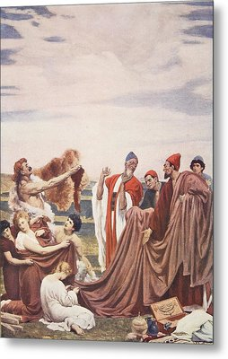 Phoenicians Trading With Early Britons Metal Print by Frederic Leighton