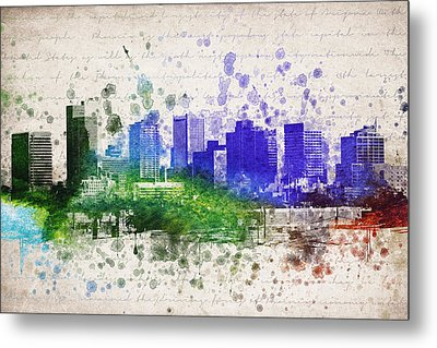 Phoenix In Color Metal Print by Aged Pixel