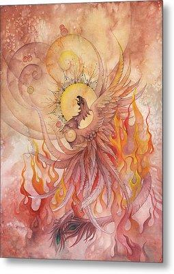 Phoenix Rising Metal Print by Ellen Starr