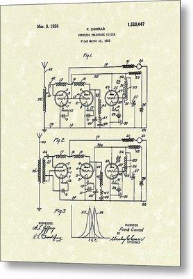 Phone System 1925 Metal Print by Prior Art Design