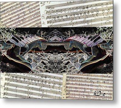 Piano Barojazz Scores Metal Print by Ha Imako