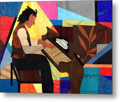 Piano Man Metal Print by Everett Spruill