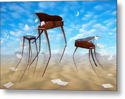 Piano Valley Metal Print by Mike McGlothlen