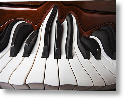 Piano Wave Metal Print by Garry Gay