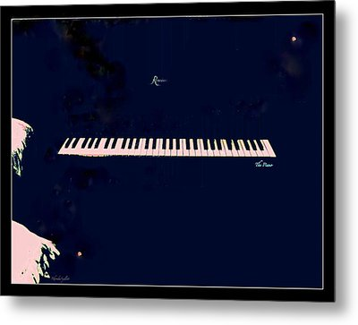 Piano Metal Print by YoMamaBird Rhonda