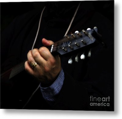 Picking On Gibson Metal Print by Steven  Digman