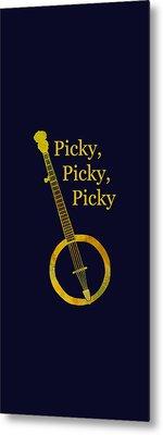 Picky Banjo Metal Print by Jenny Armitage