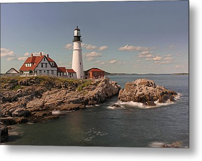 Picturesque Portland Head Light Metal Print by Juergen Roth