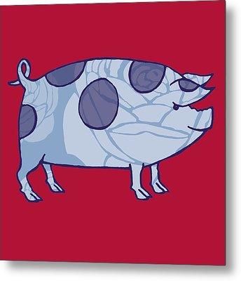 Piddle Valley Pig Metal Print by Sarah Hough