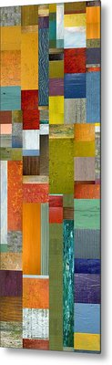 Pieces Parts Lll Metal Print by Michelle Calkins