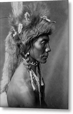 Piegan Indian Circa 1910 Metal Print by Aged Pixel