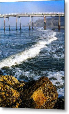 Pier Breakers Metal Print by Ron Regalado
