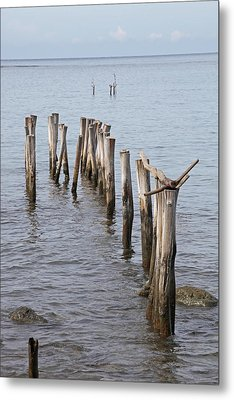 Pier Metal Print by Jim Nelson