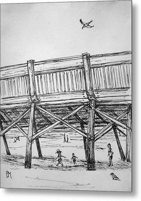 Pier Pressure Metal Print by Pete Maier