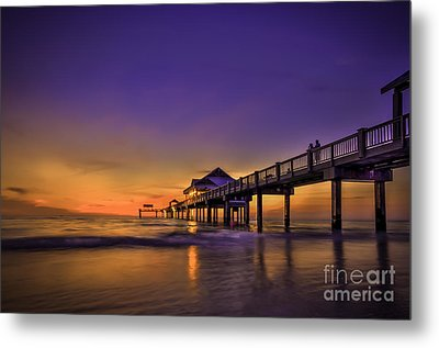 Pier Reflections Metal Print by Marvin Spates