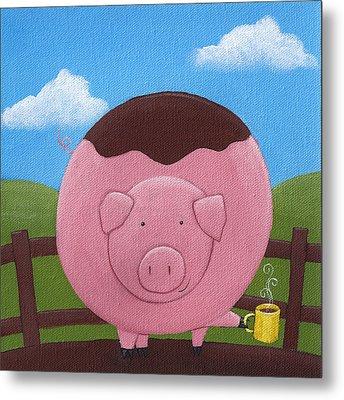 Pig Nursery Art Metal Print by Christy Beckwith