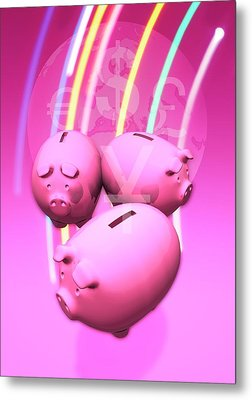 Piggy Banks Metal Print by Victor Habbick Visions