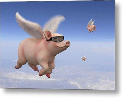 Pigs Fly 1 Metal Print by Mike McGlothlen