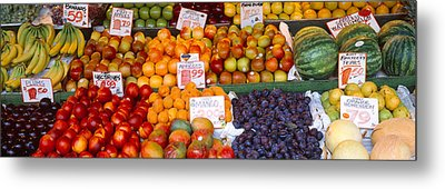 Pike Place Market Seattle Wa Usa Metal Print by Panoramic Images