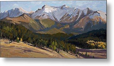 Pikes Peak Panoramic Metal Print by Mary Giacomini