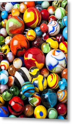Pile Of Marbles Metal Print by Garry Gay