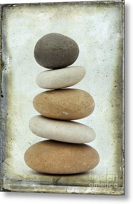Pile Of Pebbles Metal Print by Bernard Jaubert