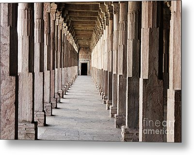 Pillar Hall In The City Of Joy Metal Print by Four Hands Art