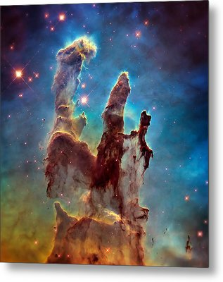 Pillars Of Creation In High Definition - Eagle Nebula Metal Print by The  Vault - Jennifer Rondinelli Reilly