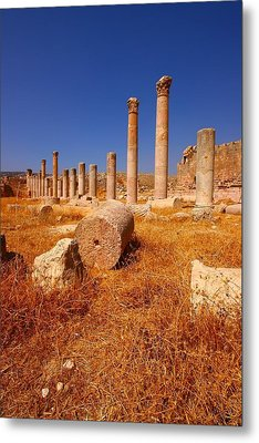 Pillars Of Ruin Metal Print by FireFlux Studios